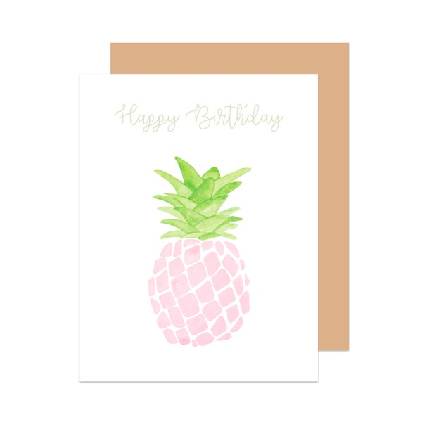 Image of Happy Birthday Pineapple Card