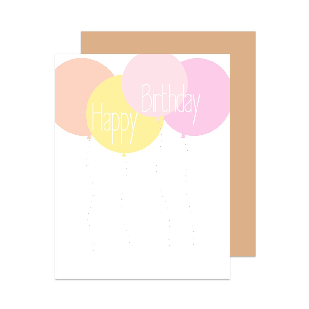 Image of Happy Birthday Balloon Card