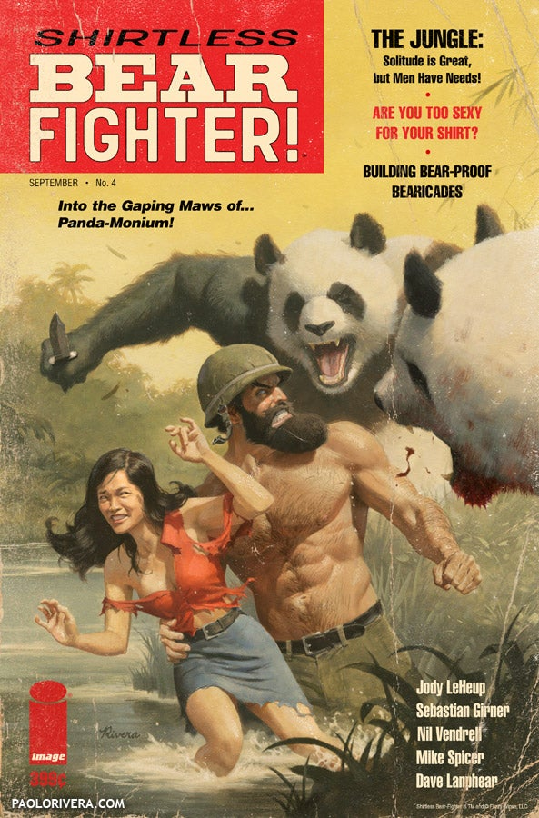 Image of Shirtless Bear-Fighter Print