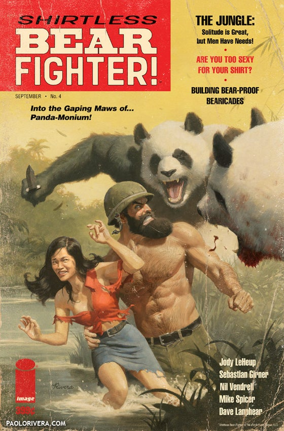 Image of Shirtless Bear-Fighter (battle-ravaged)