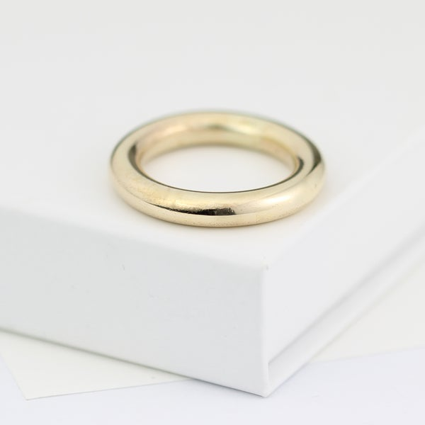 Image of chunky gold ring, gold wedding ring