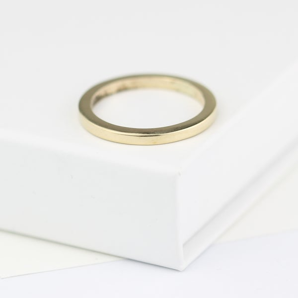 Image of Gold ring, beautifully simple wedding ring, 2mm square wedding ring