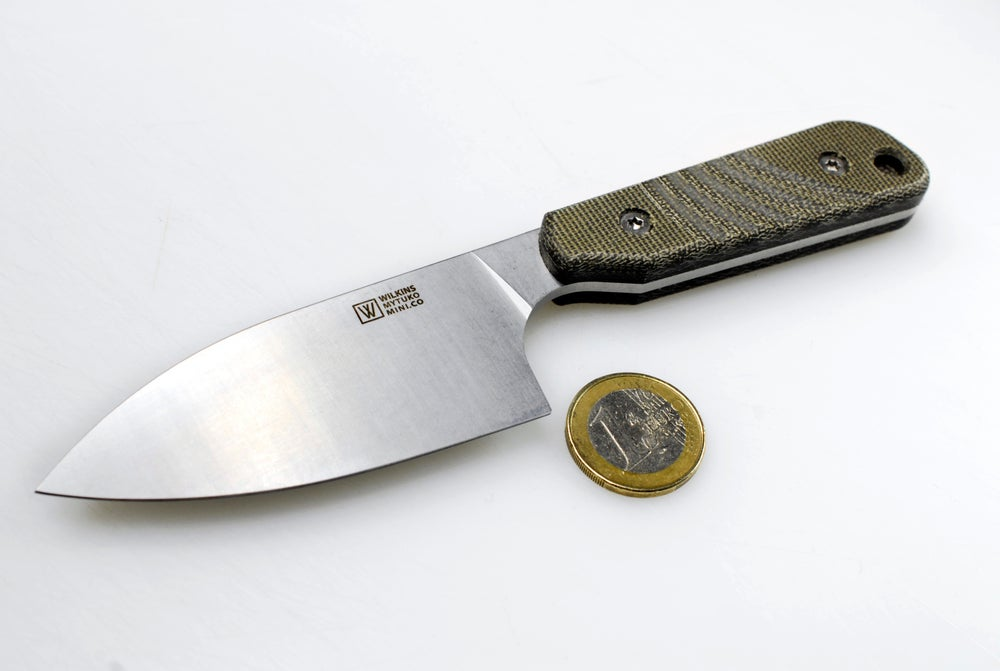 Image of Mytuko Mini Cobalt Olive Canvas Micarta