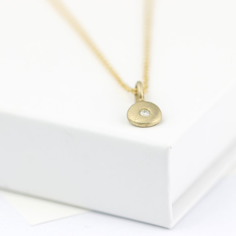 Image of delicate diamond necklace, gold diamond necklace