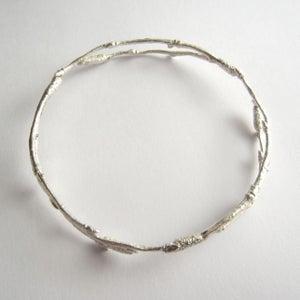 Image of Silver twig bangle, arctic twig bangle