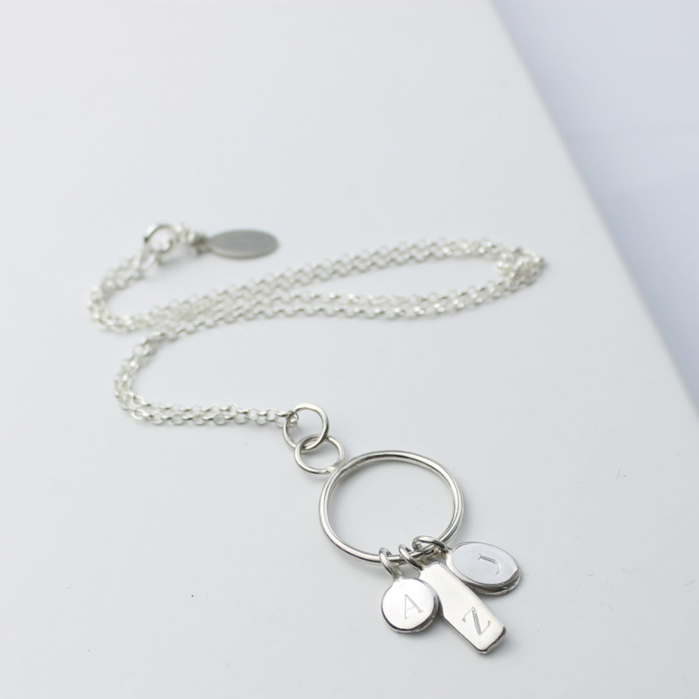 Image of Family keepsake initial necklace (3 TAGS)