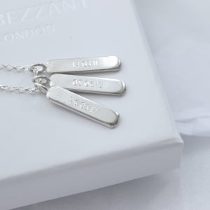 Image of Family keepsake tag necklace (3 TAGS)