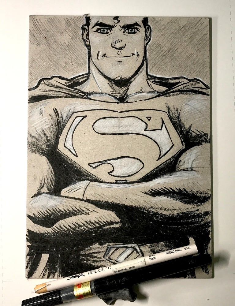 Image of SUPERMAN BRUSH ART