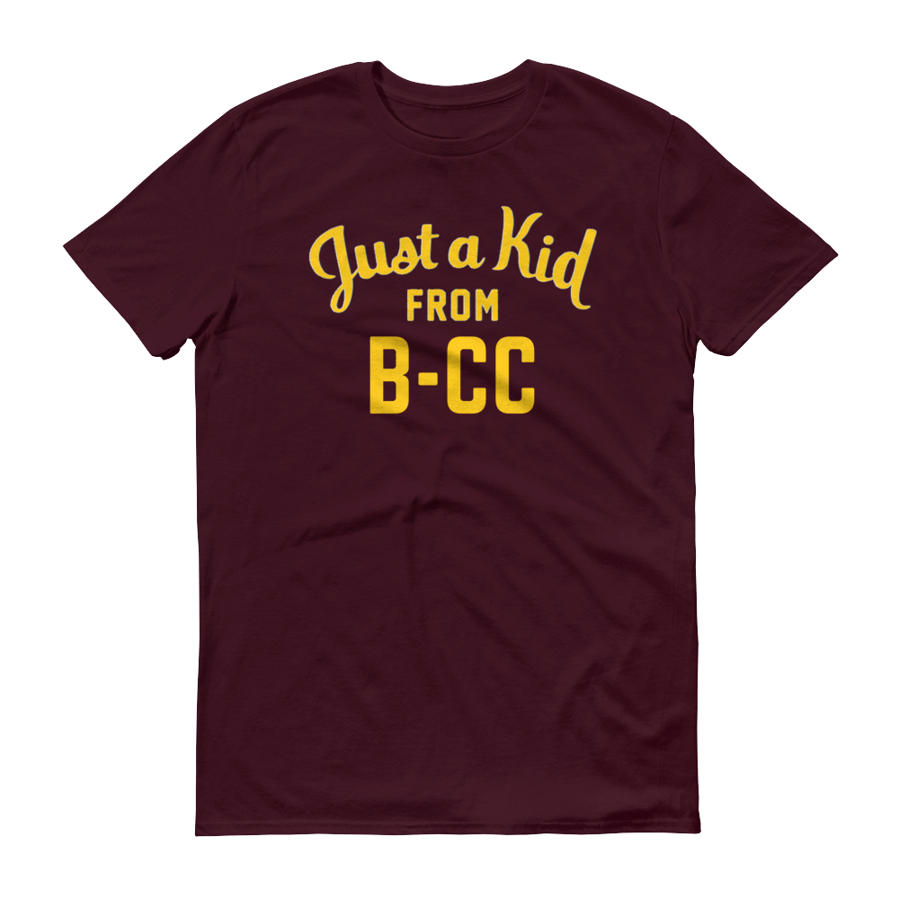 Image of A Kid From B-CC Maroon Shirt