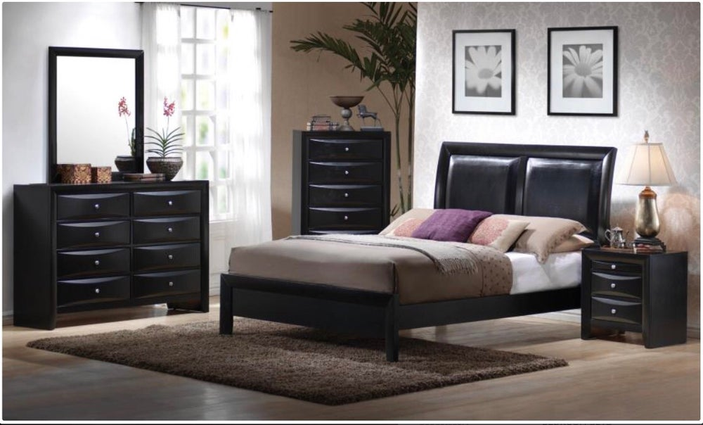 Leather Headboard Bedroom Set*** / Shopsitnsleep