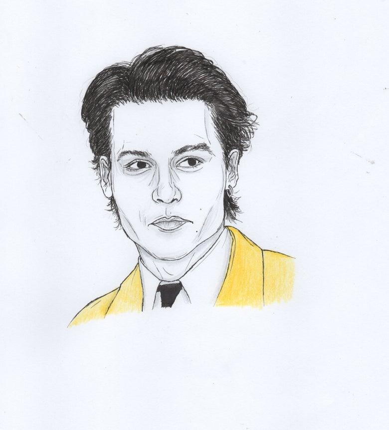 Image of johnny depp original portrait