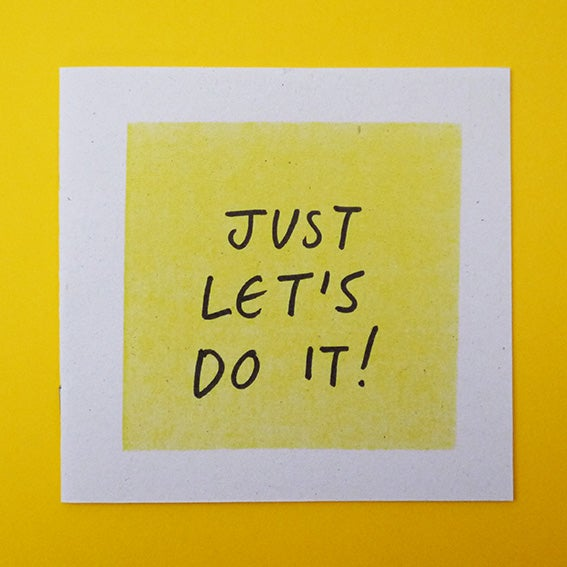 Image of 'Just Let's do it!' - Zine