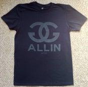 Image of GG ALLIN - BLACK ON BLACK CHANEL tee