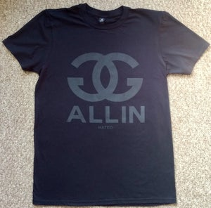 Image of GG ALLIN - BLACK ON BLACK CHANEL tee