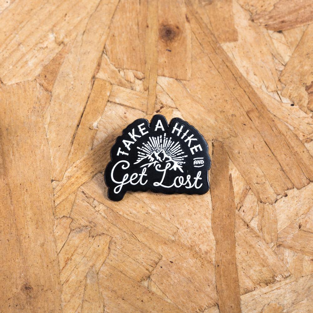 Image of adventure inspired enamel pin badge
