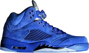 Image of Air Jordan Retro 5 Blue Suede Pre-Order