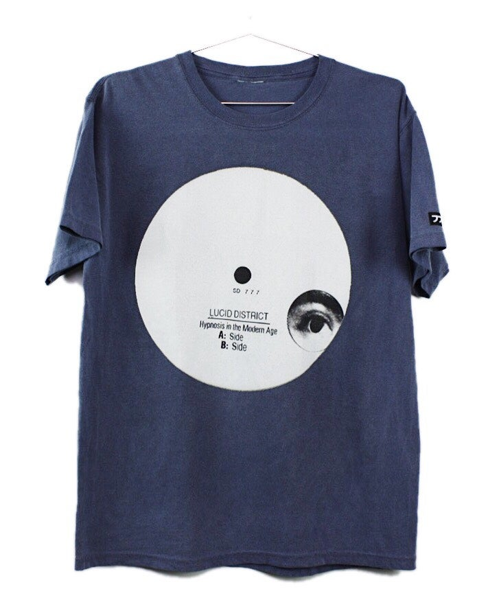 "Image of ""HYPNOSIS IN THE MODERN AGE"" TEE (INDIGO BLUE)"
