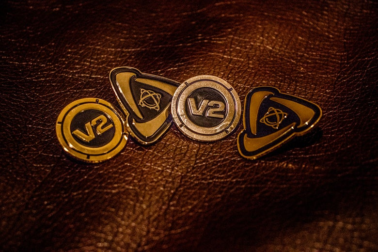 Image of Limited Edition Das Energi/V2 Gold & Silver Pins