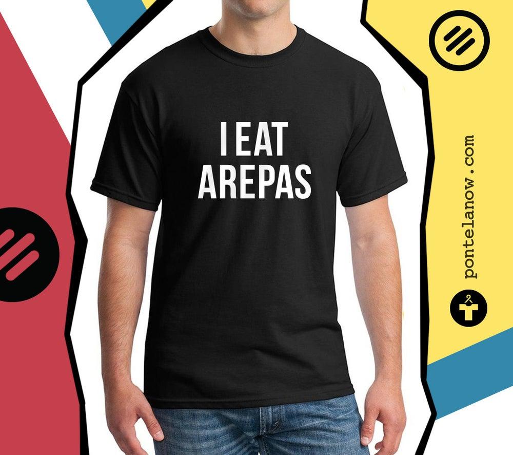 Image of IEatArepas - T-shirt Men/Black