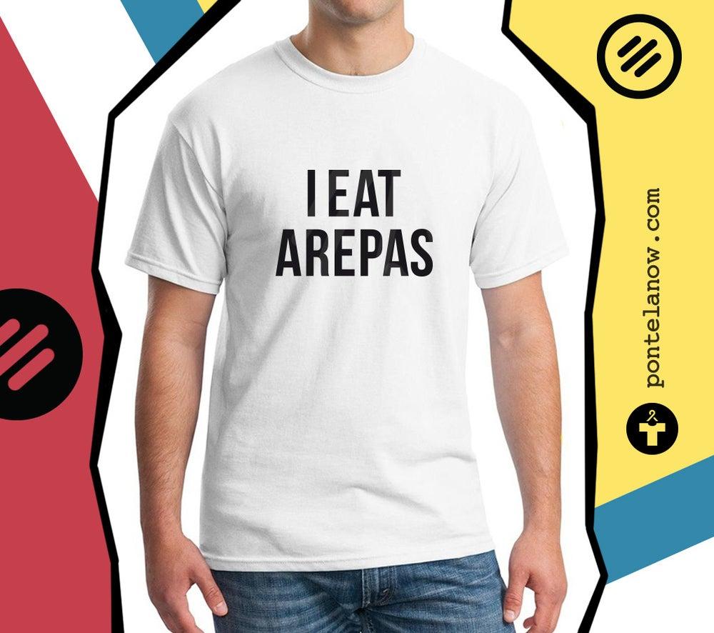 Image of IEatArepas - T-shirt Men/White