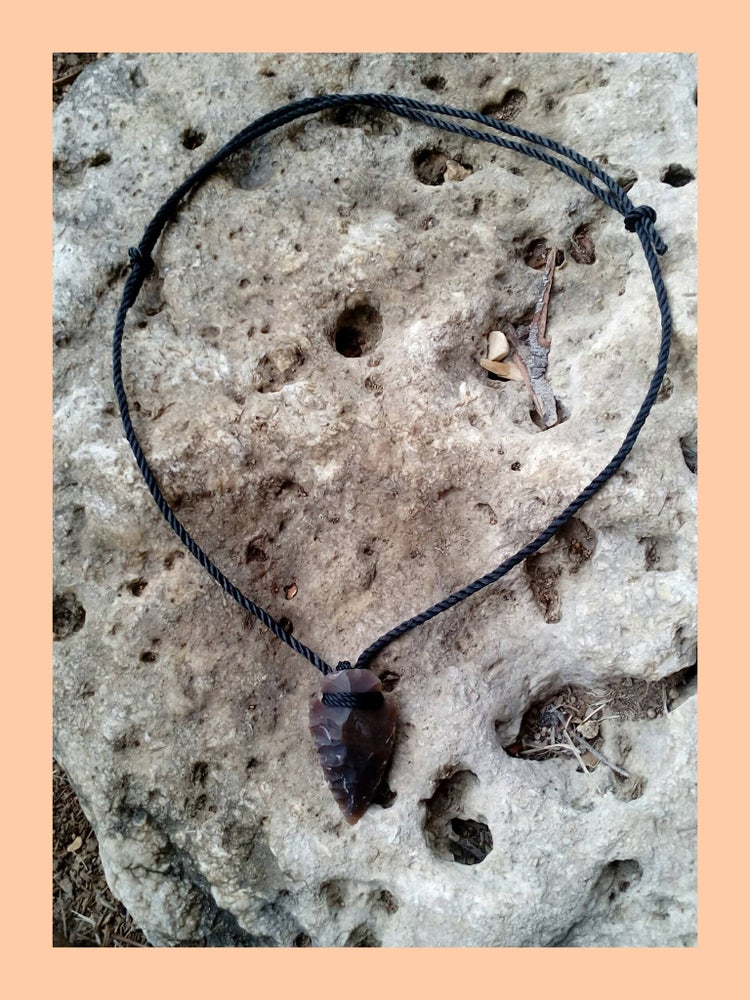 Image of Hand knapped arrowhead necklace