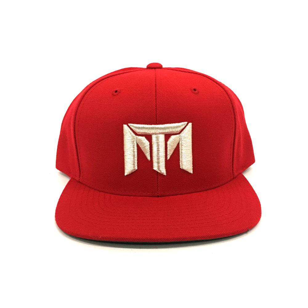 Image of MT Logo Hat (Red/Silver)