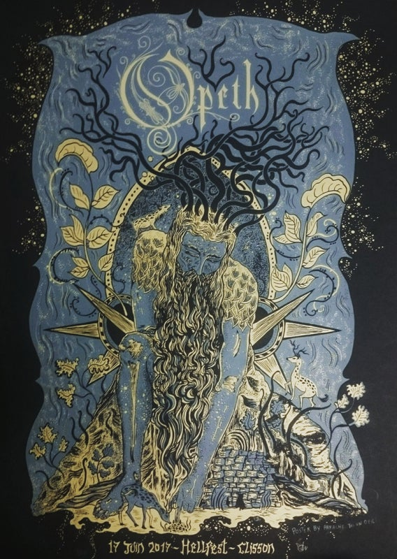Image of OPETH (Hellfest 2017) screenprinted poster