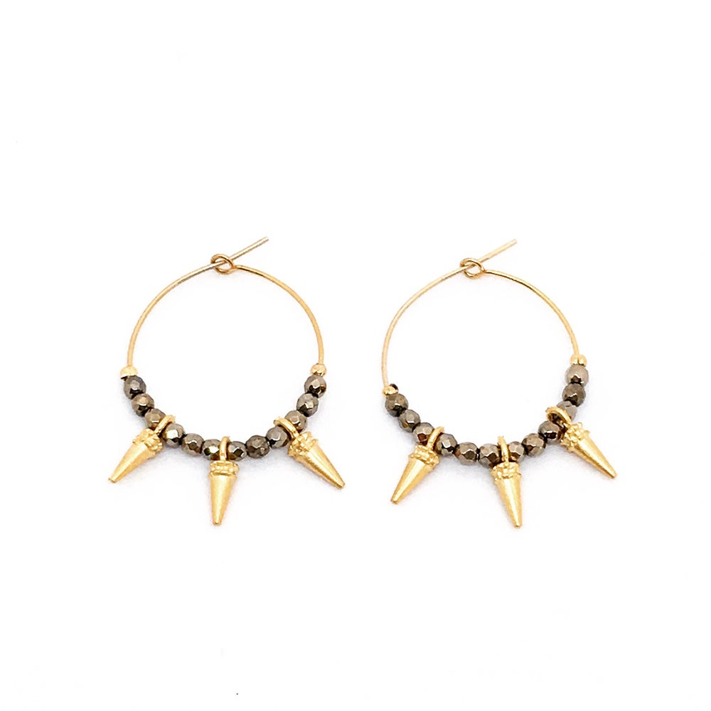 Image of ALICE hoop earrings