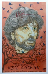 Image of An Evening w/Neil Gaiman Poster - AUTHOGRAPHED By Gaiman