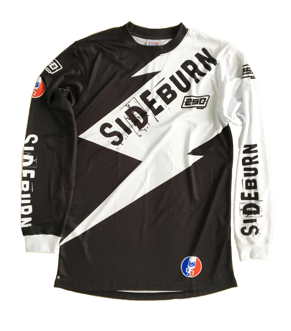 Image of Sideburn x 250London Race Shirt - Black and White