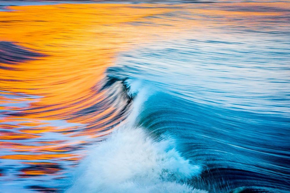 Image of Santa Cruz surf at sunset