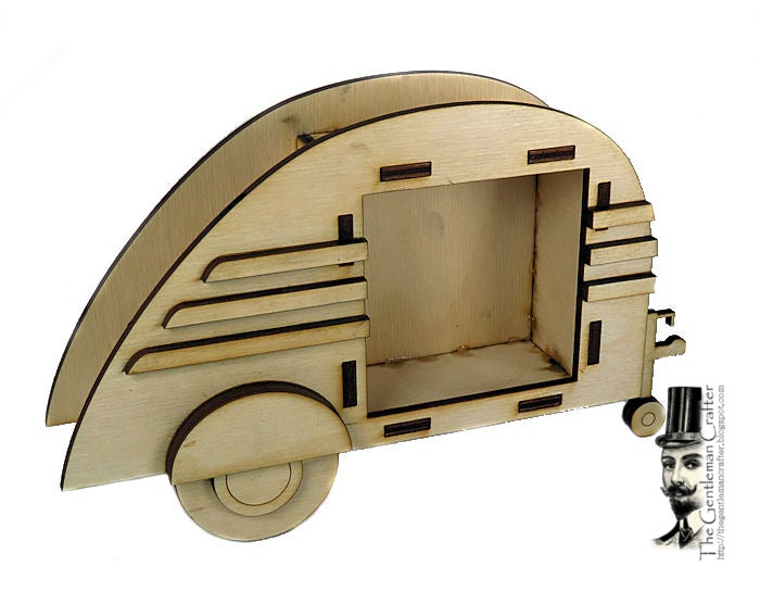 Image of Wood Shrine Kits- Tiny Teardrop Trailer
