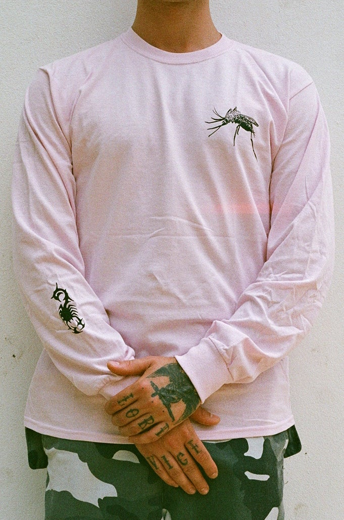 Image of pink WEB long sleeve