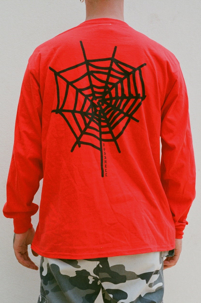 Image of red WEB long sleeve