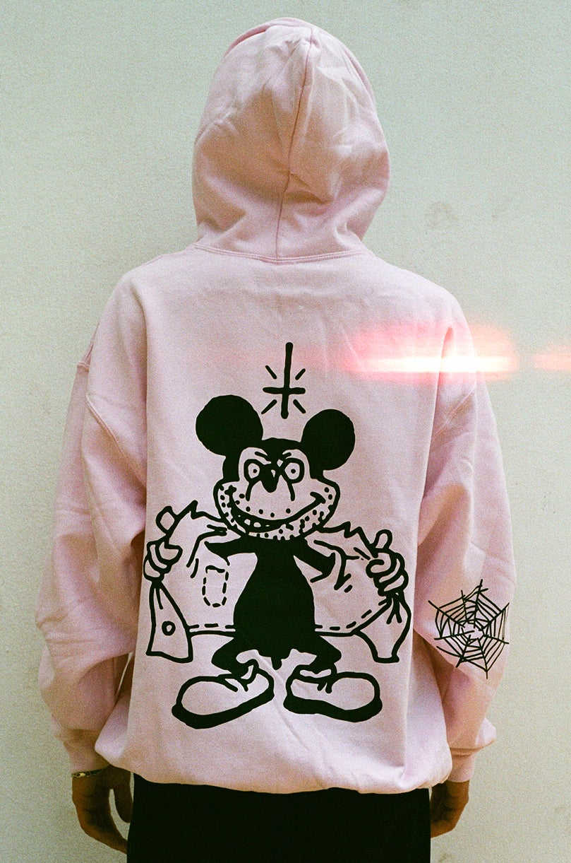 Image of pink MICKEY hooded sweat