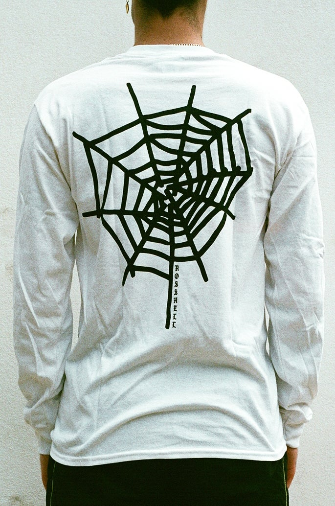 Image of white WEB long sleeve