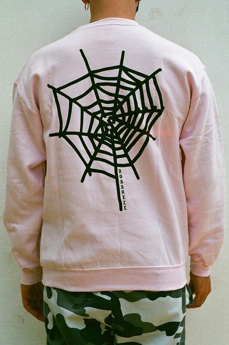 Image of pink web jumper