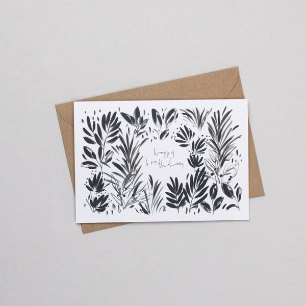 Image of Botanical Happy Birthday Card
