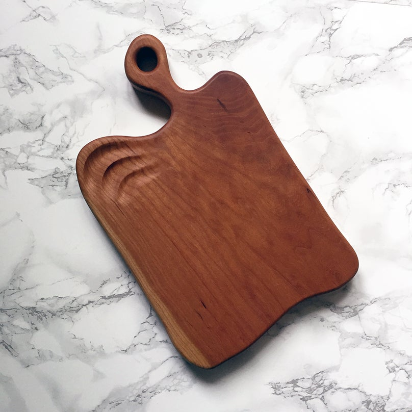 Image of Carved cherry serving board #2