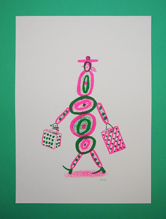 Image of 'Hey I'm Walking here!' - Sicily - A3 Risograph print