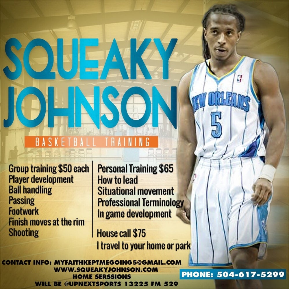 Image of Squeaky Johnson Skills/Drills Personal or Group Training