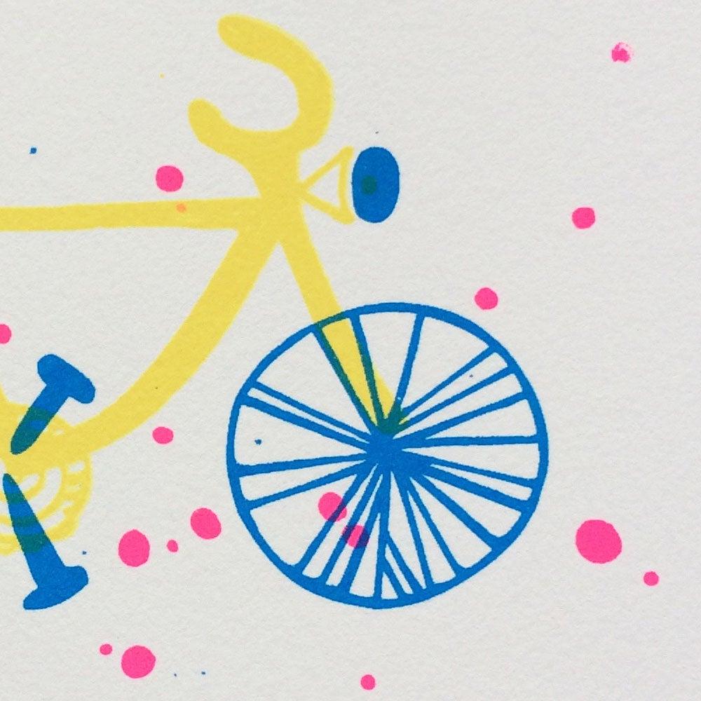Image of carte vélo illustration sérigraphie