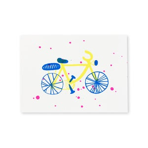 Image of carte vélo illustration sérigraphie