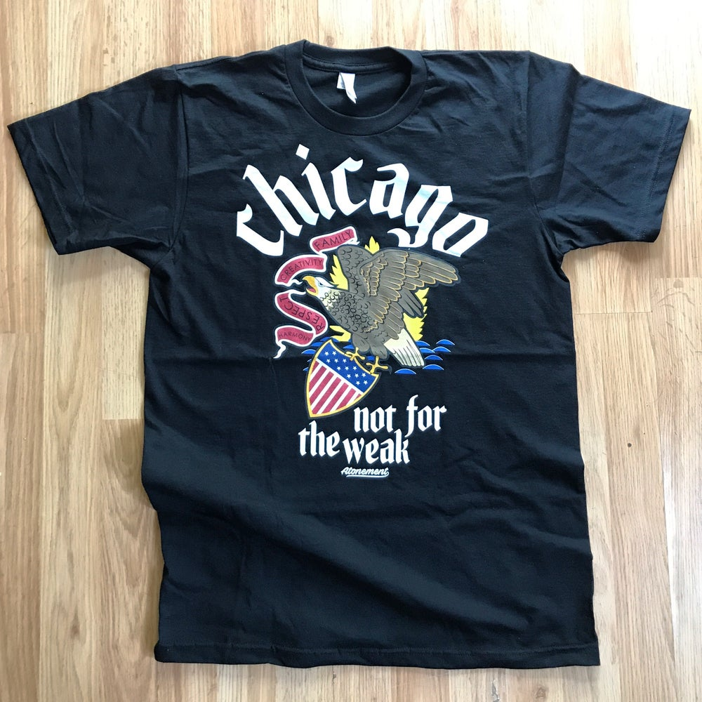 "Image of ""Chicago - Not For The Weak"" Tee in Black"
