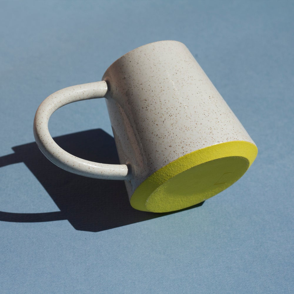 Image of Yellow Slant Mug