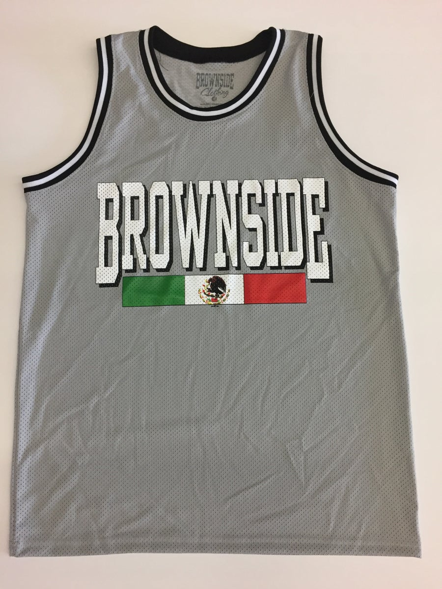 Image of BROWNSIDE LOGO MEN'S MESH JERSEY