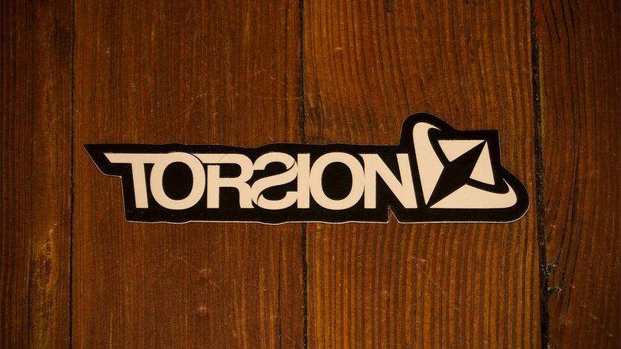 Image of Torsion decal - black & white