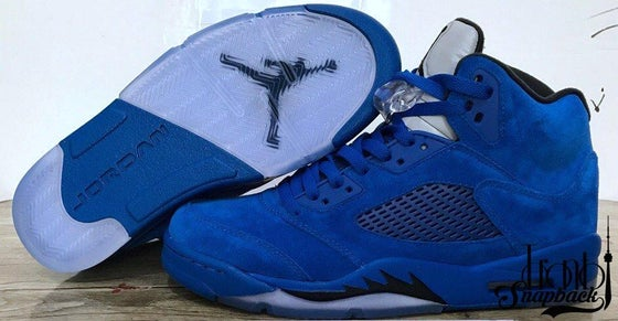 Image of AIR JORDAN 5 BLUE SUEDE