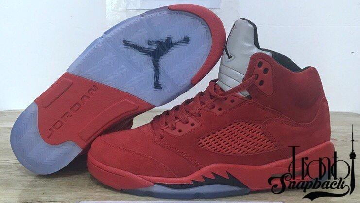 Image of AIR JORDAN 5 RED SUEDE