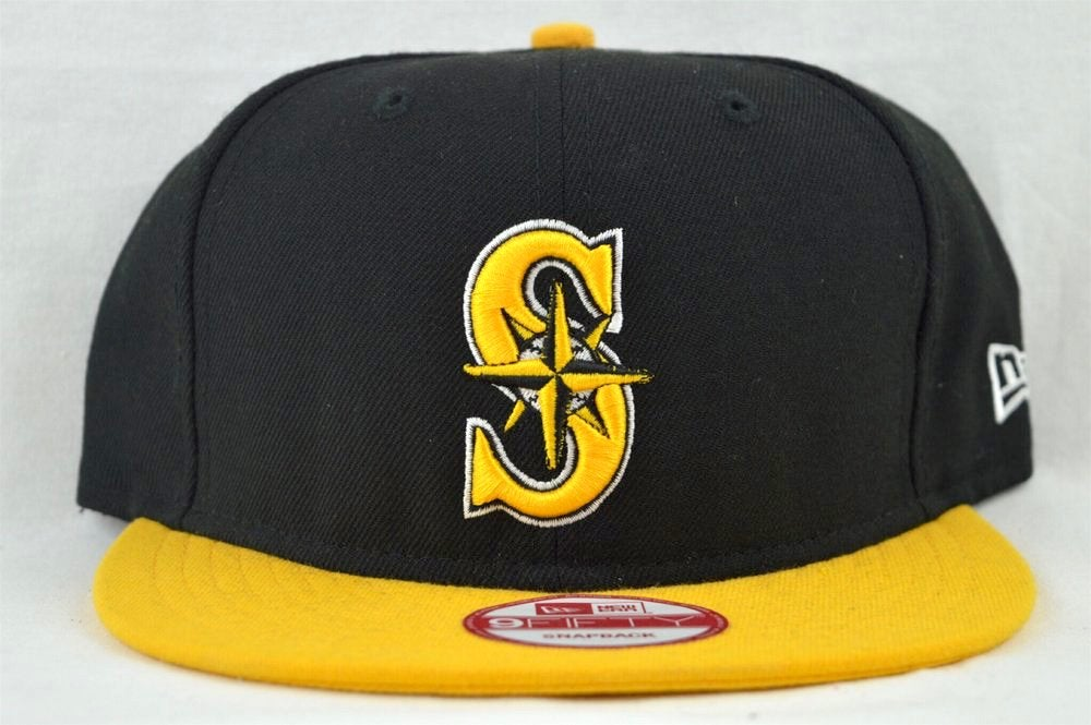Image of Seattle Mariners Black & Yellow New Era 950 Snapback